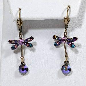 Swarovski Elements Crystal DragonFly Earrings